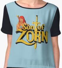 Son of Zorn - Vintage distressed Chiffon Top
