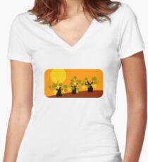 Vineyard Women's Fitted V-Neck T-Shirt