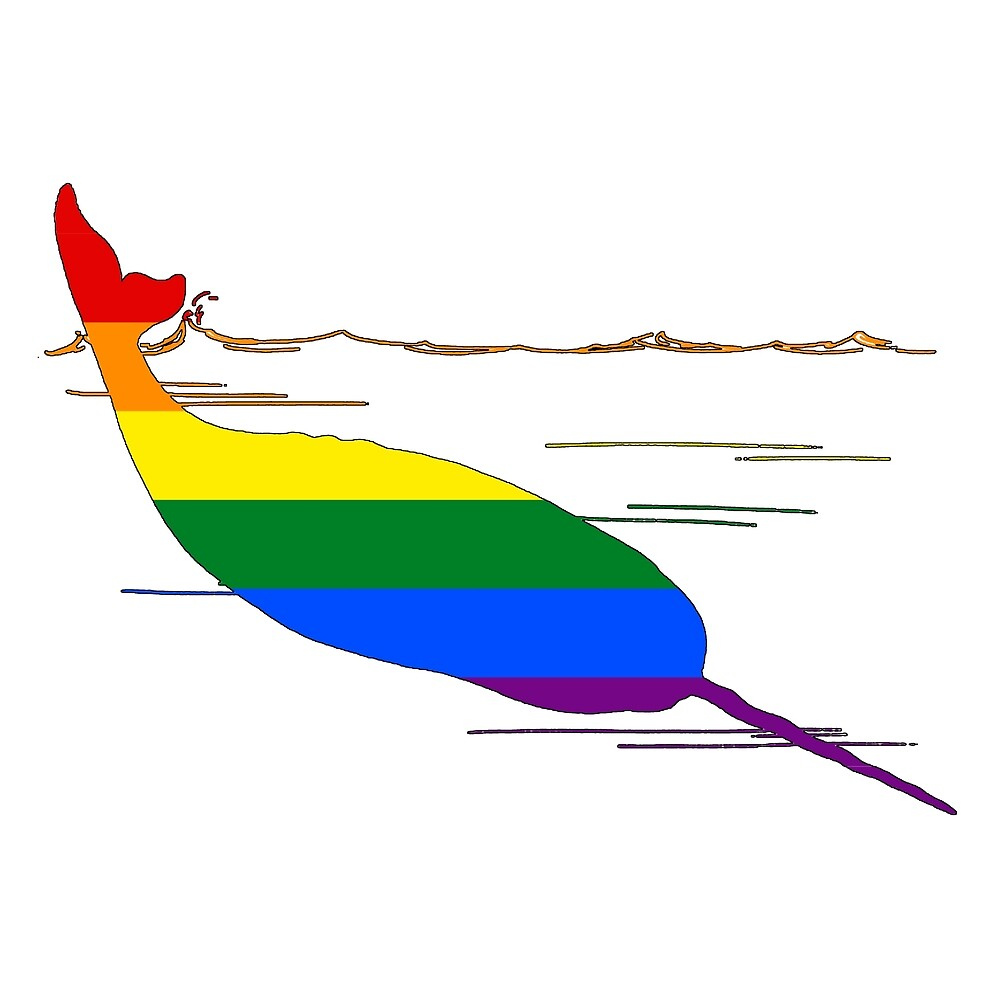 Rainbow Narwhal by DelirusFurittus