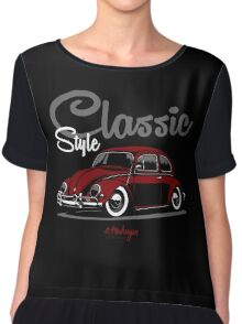 Classic Style. VW Beetle (red) Chiffon Top