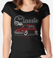 Classic Style. Beetle (red) Women's Fitted Scoop T-Shirt