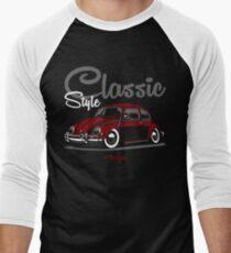 Classic Style. Beetle (red) Men's Baseball ¾ T-Shirt