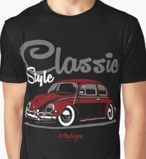 Classic Style. Beetle (red) Graphic T-Shirt