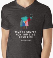 Live Your Life with Craig Sager Men's V-Neck T-Shirt