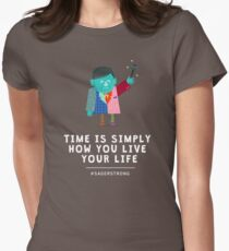 Live Your Life with Craig Sager Womens Fitted T-Shirt