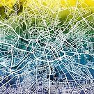Manchester England Street Map by Michael Tompsett