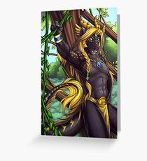 Forest Guardian Dragon Greeting Card