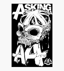 Asking Alexandria England Skull  tshirt and hoodie Photographic Print