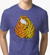 Call Me Dangerous Tiger Cat Tri-blend T-Shirt