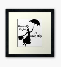 Walt Disney's Mary Poppins design Framed Print