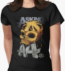 Asking Alexandria Colored England Skull  tshirt and hoodie Womens Fitted T-Shirt