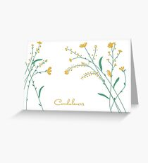 Condolences Wild Flowers Greeting Card