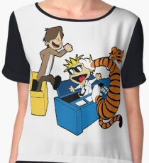 Doctor Who and Hobbes Chiffon Top