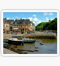 Port of St Goustan in Brittany, France Sticker