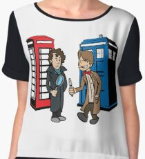 Doctor Who and Sherlock Women's Chiffon Top