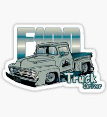 Ford F100 Truck Driver 1953 - 1956 Glänzender Sticker