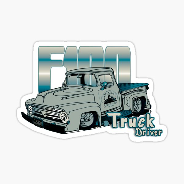Ford F100 Truck Driver 1953 - 1956 Sticker