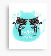 Coffee and Cats Canvas Print