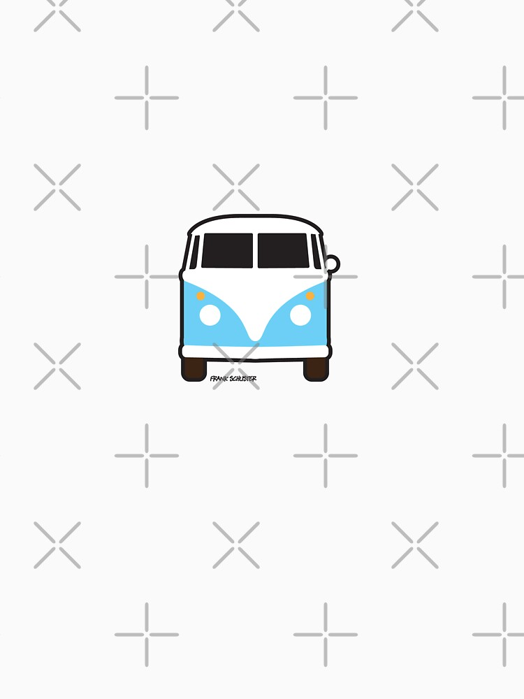 Split VW Bus Front Blue Hippie Van | Unisex T-Shirt