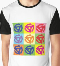 Pop Art Vinyl Record 45 Holder Graphic T-Shirt