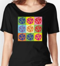 Pop Art Vinyl Record 45 Holder Women's Relaxed Fit T-Shirt