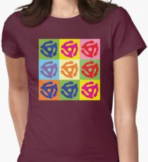 Pop Art Vinyl Record 45 Holder Womens Fitted T-Shirt