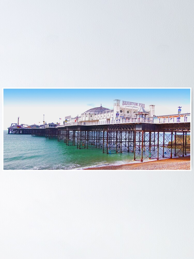 "Alternate view of Brighton Pier - The ""Palace Pier"" Poster"