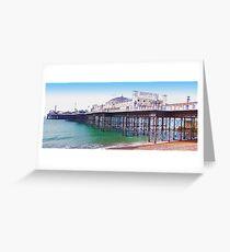 """Brighton Pier - The """"Palace Pier"""" Greeting Card"""