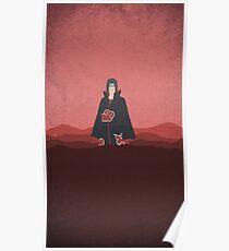 Naruto itachi minimalist Poster