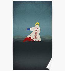 Naruto Minato minimalist  Poster