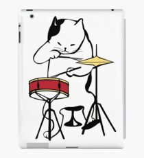 Cat Playing Drums   Funny Drummers Shirt iPad Case/Skin