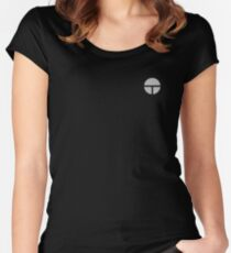 SMT Black Logo Small Women's Fitted Scoop T-Shirt