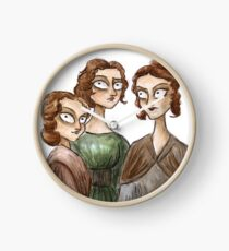 The Bronte Sisters Clock