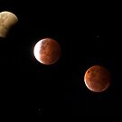 Three stages of the Eclipse  by Josie Jackson
