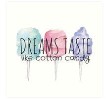 Dreams Taste Like Cotton Candy Stickers By Annmariestowe