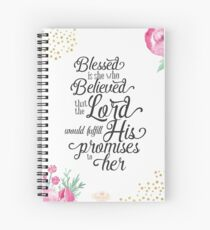 Blessed Is She Journal Spiral Notebook