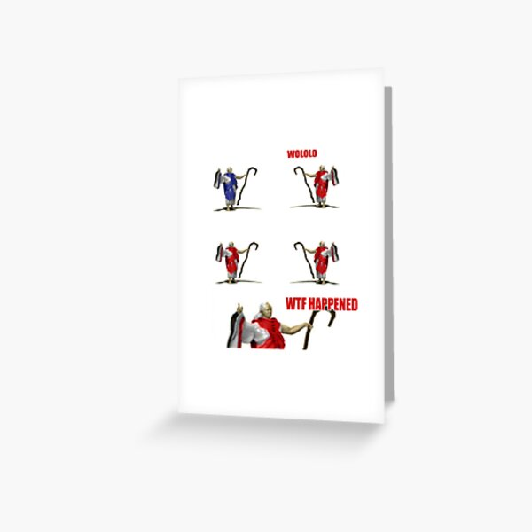 WTF HAPPENED?! Age of Empires Monk Wololo Greeting Card