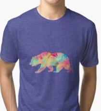 Abstract Bear Tri-blend T-Shirt