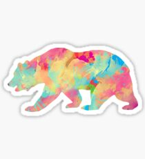 Abstract Bear Sticker