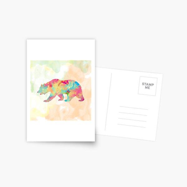 Abstract Bear Postcard