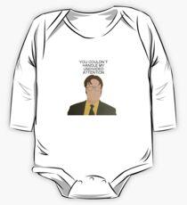 Dwight Aufmerksamkeit Die Büro-Anführungsstriche Baby Body Langarm