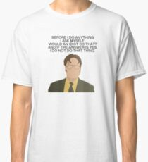 Dwight Idiot The Office Quotes Classic T-Shirt