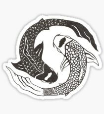 Ying Yang Koi Fish Sticker