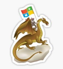 Ninja Cat Dragon Sticker
