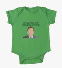 Michael Scott Dwight Loved or Feared The Office Quotes One Piece - Short Sleeve