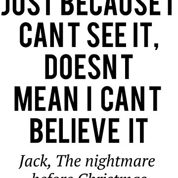 Jack just because i can't see it by moviephrases