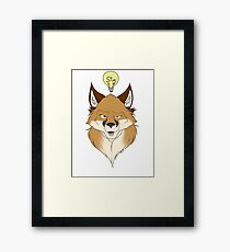 Fox Face White Framed Print