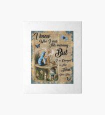"""Lámina rígida Alice in Wonderland Quote Vintage Dictionary Art """"He cambiado algunas veces ..."""""""