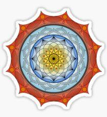 World On Fire Mandala Sticker