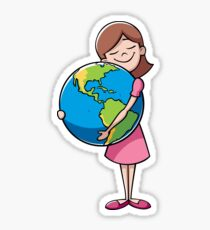 Child and Earth Sticker